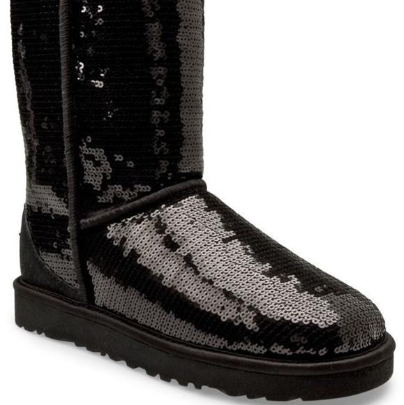 Black Sequin Ugg Boots | Poshmark